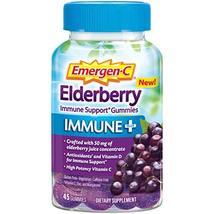 Emergen-C Immune+ Elderberry Gummies, 750 mg Vitamin C with Vitamin D, Zinc and  - $31.83