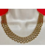 14K GS Thick Link Gold Vintage NECKLACE - 18 inches long - $165.00