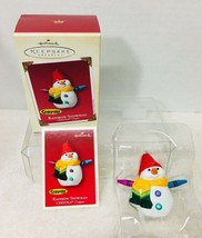 2002 Crayola Rainbow Snowman Hallmark Christmas Tree Ornament Box w Pric... - $19.31