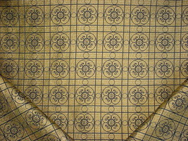 10Y KRAVET LEE JOFA BLACK GOLD CELTIC MEDALLION DRAPERY UPHOLSTERY FABRIC - $217.80
