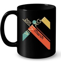 Retro Classic Vintage Born In March 2011 Gift 7 Years Old Gift Coffee Mug - $13.99+