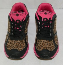 Crazy Train RUNWILD14 Black Pink Cheetah Sneakers Size 9 image 2