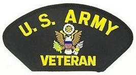 ARMY VETERAN LOGO MILITARY EMBROIDERED  PATCH - $13.53