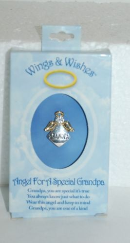 DM Merchandising Wings Wishes Special Grandpa Angel Gold Colored Angel