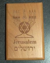 Israel Olive Wood Small Magnet Judaica Messianic Menorah Jerusalem Peace Dove image 6