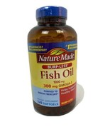 Nature Made Fish Oil 300mg Omega-3 Softgels, 320 Count, Exp 1/21 - $18.99