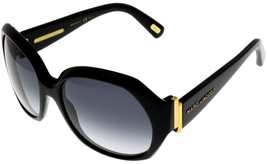 Marc Jacobs Sunglasses Women Shiny Black Rectangular MJ302/S 807JJ  - $226.71