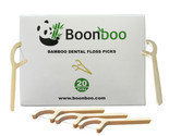 Bamboo Dental Floss Picks | 20CT Reusable Picks | Sustainable & Biodegradle