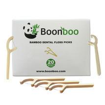 Bamboo Dental Floss Picks | 20CT Reusable Picks | Sustainable & Biodegradle - £4.39 GBP