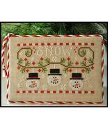 Snowmen Trio christmas cross stitch chart Country Cottage Needleworks - $5.40