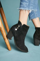 JEFFREY CAMPBELL Roshana Black Side Snap Ankle Boot  6 M New $135 - $38.48