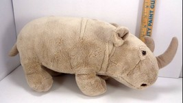 "Disney Worldwide Conservation Fund Tan Plush Stuffed Large Rhino 17"" Long  - $18.80"