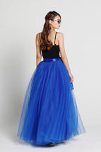 Adult Long Red Tulle Skirt 4-Layered Floor Length Tulle Skirt Plus Size image 11