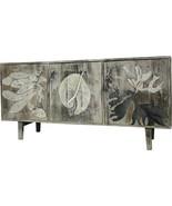 Sideboard Coastal Beach Gray Mango Wood New Hand-Painted - $999.00