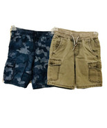 Boys Olive Green Cat Jack Relaxed Fit & Blue Camo Gymboree Cargo Shorts ... - $12.17