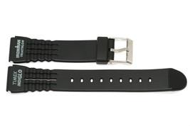 TIMEX WOMENS 15MM BLACK RUBBER IRONMAN TRIATHLON SPORT WATCH BAND STRAP - $7.26