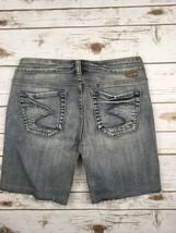 Silver J EAN S Shorts Mid Rise Lola Frayed Hem Denim Jean Stretch Shorts 29 - $19.97