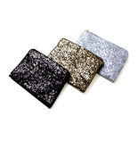 bg1 Celebrity Style Luxury Boxy Metallic Glitter Sequined Clutch Evening... - $10.46