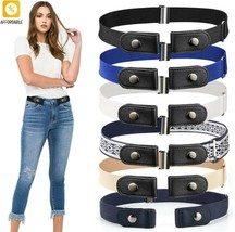 Belt For Jeans Pants Buckle-Free Waist Stretch Elastic Waist Belt For Wo... - $7.93+