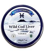 Wild Cod Liver in Own Oil – 6.7 oz (190 g) – Natural Source of Cod Liver... - $19.75