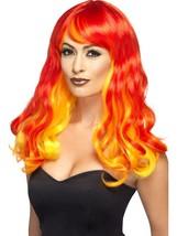 Ombre Devil Flame Wig, Halloween Fancy Dress Accessories, Fancy Dress - £15.60 GBP