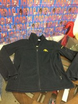 Iowa Hawkeyes Black Yellow Full Zip Columbia Fleece Jacket Women's Medium - $19.79