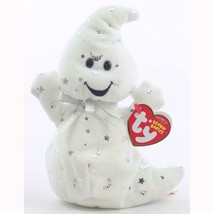 Vanish the White Ghost with Silver Stars Ty Beanie Baby MWMT Halloween R... - $19.75