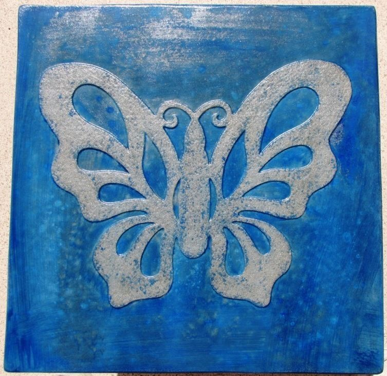 "2+1 FREE - Butterfly Stepping Stone Concrete Molds 18x2"" Make For About $2.00 Ea"