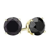 Voss+Agin 14K Gold Black Onyx Stud Earrings, 2ctw (6mm) - $58.00