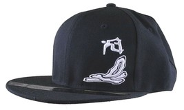 Dissizit! Smoke Bowls Skateboard D Bones Ramp Black Snapback Baseball Hat NWT