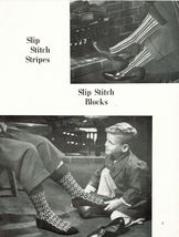 Vtg 1950's Beehive 20 Men's Knit Innovation Socks Pattern Series 62 - $13.99