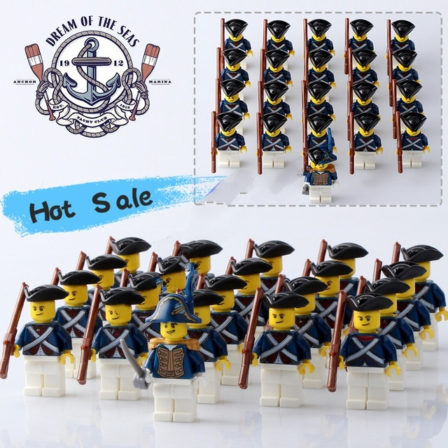 Primary image for 21 Pcs Pirates Of The Caribbean Commander Navy Figures With Rifle Fit Lego Block