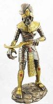 Gifts & Decor Egyptian Theme Faux Bronze Mummy King TUT Zombie Sarcophag... - £30.59 GBP