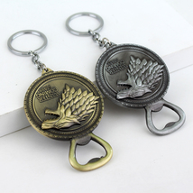 New Game of Thrones Bottle Opener Keychain Bar Beer Wine Tool House Star... - $19.90