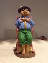 "Dept 56 General Store Bunny - Rabbit Farmer in Chair - 7"" Figurine - EUC - $19.95"