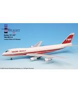 TWA Trans World Airlines 80s Bold Titles Boeing 747-100 Airplane Miniatu... - $189.59