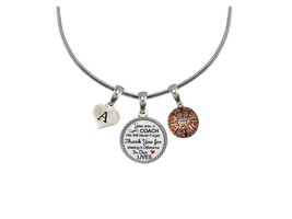 Custom Basketball Coach Thank You Gift Silver Necklace Jewelry Choose In... - $14.87