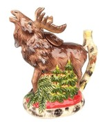 Blue Sky Woodland Moose Ceramic Figural Teapot NIB 16421 - $64.30