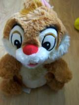 "10"" Disney Store Chip & Dale Chipmunk Plush Dale Soft Stuffed Animal EUC - $18.00"