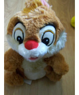 "10"" Disney Store Chip & Dale Chipmunk Plush Dale Soft Stuffed Animal EUC - $18.00"