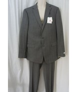 Calvin Klein Mens Suit Sz 46L 39W Grey Multi Extreme Slim Fit 100% Wool ... - $345.94