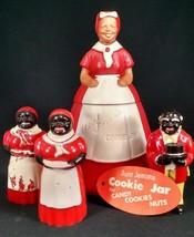 VINTAGE AUNT JEMIMA LOT Black Americana Uncle Mose COOKIE SALT PEPPER SYRUP - $177.64