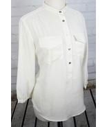 Tommy Hilfiger Blouse 1/2 Button Down Pop-Over Lightweight Flowy Shirt T... - $37.62