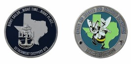 "SHEPPARD AIR FORCE BASE TEXAS NAVY CENTER FOR SEABEES 1.75"" CHALLENGE COIN - $17.09"