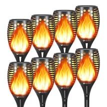 8 Pack Solar Torch Lights With Flicke S, Solar Lights Outdoor Garden F - $182.99