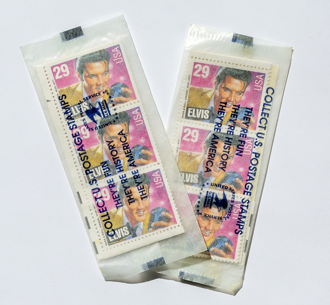 Elvis 29 stamps strips