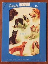 Vintage Meyercord Decals Dogs X522B - $13.72
