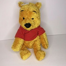 "Mattel Winnie The Pooh Plush 20"" Red Shirt 2002 Shiny Fur Stuffed Animal - $28.93"