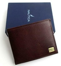 Nautica Men's Premium Leather Credit Card Id Passcase Wallet Billfold 31Nu22X030 image 1