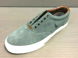 Polo Ralph Lauren Men's Vaughn Sport Suede Sneakers Char Grey, Size 7.5 D - $57.76 CAD